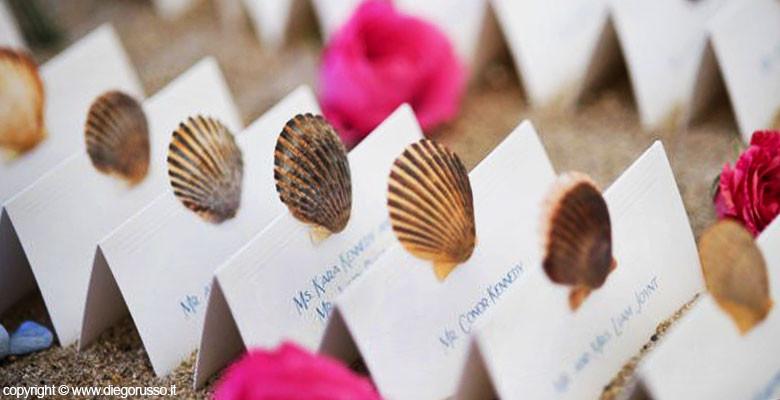 Segnaposto Matrimonio Tema Napoli : Le conchiglie segnaposto fotografo matrimonio napoli