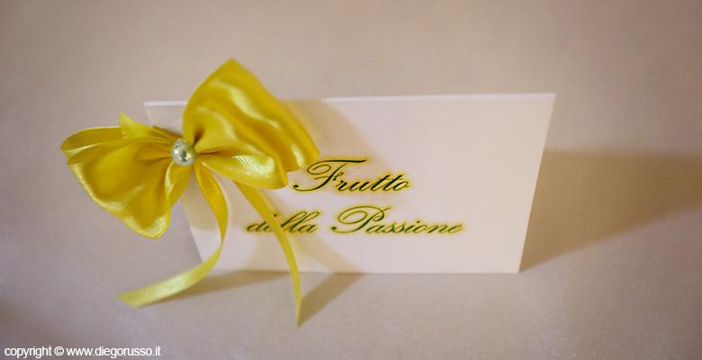 Segnaposto Matrimonio Tema Napoli : Bigliettini segnaposto tema di frutta fotografo