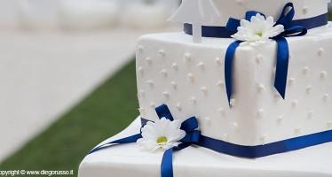 Wedding Cake Dettagli In Blu