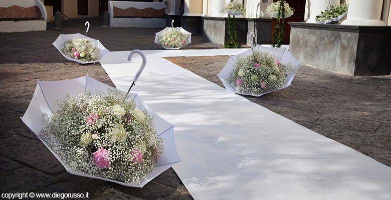 Il vaso ombrello fotografo matrimonio napoli diego russo studio fotografico - Addobbi matrimonio casa ...