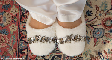 Pantofole-gioiello sposa