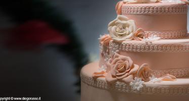 Wedding cake color pesca