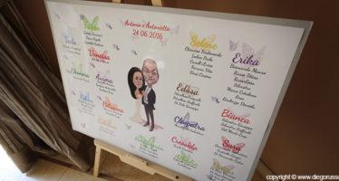 Tableau de mariage colorato