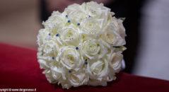 Il bouquet con swarovsky blu