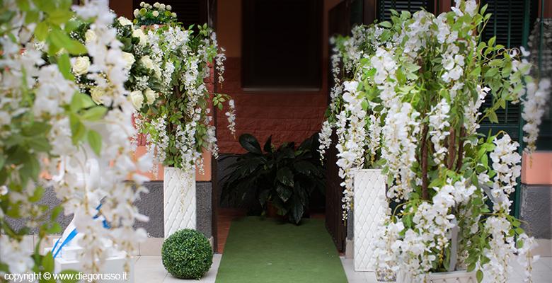 Uscita di casa della sposa fotografo matrimonio napoli diego russo studio fotografico - Addobbi matrimonio casa della sposa ...