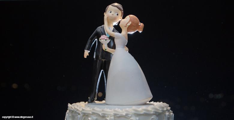 Cake topper al bacio