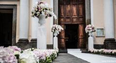 Decorazioni floreali per matrimonio