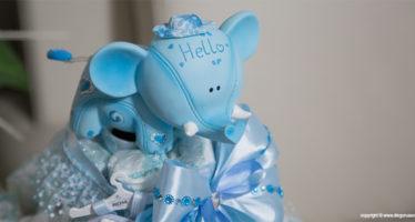 Elefantino per torta da battesimo