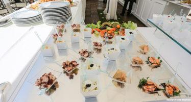 Buffet di pesce al matrimonio