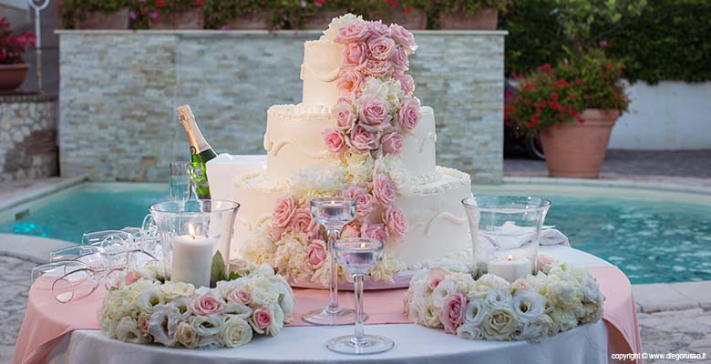 Wedding: Una torta di rose