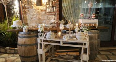 Shabby wedding: la confettata
