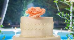 Cake topper - una rosa