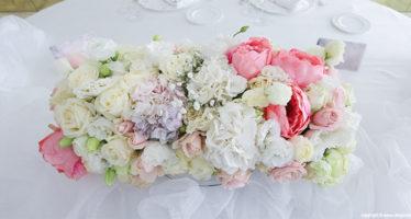 Peonie, rose e ortensie da matrimonio