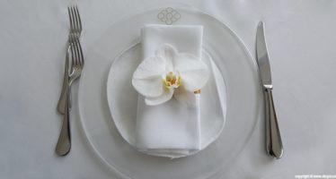 Un'orchidea per segnaposto