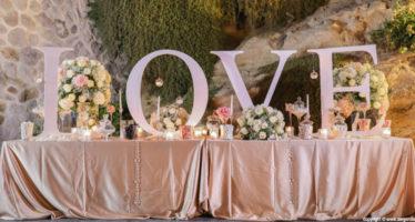 Wedding: le scritte giganti