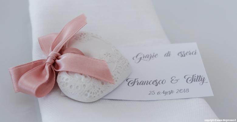 Segnaposto Matrimonio Romantico.Segnaposto Romantico Un Cuoricino Fotografo Matrimonio Napoli