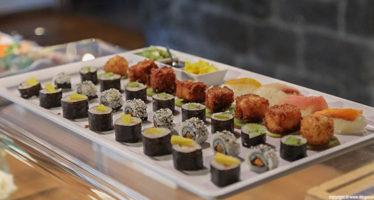 Wedding buffet: sushi