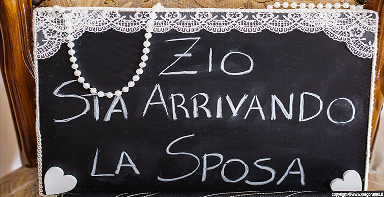 Wedding details: la lavagna