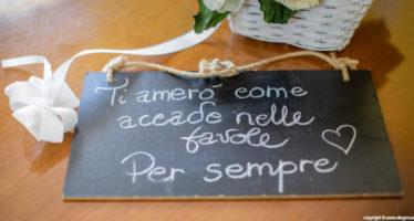 Dettagli da matrimonio: le scritte