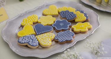 Wedding: biscotti colorati