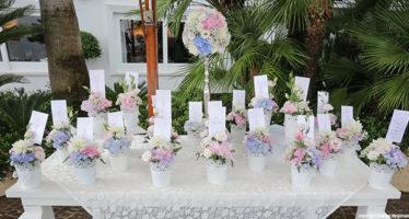 Tableau mariage floreale