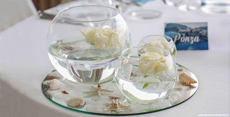 Wedding: centrotavola tema marino