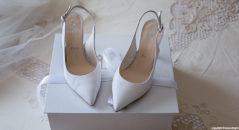 scarpe sposa: modello Chanel