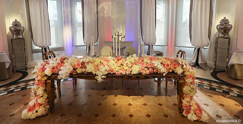 Elegante tavolo d'onore