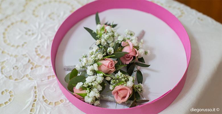 Boutonnière rosa