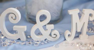 Lettere per tavoli matrimonio