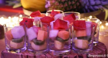 Buffet: frutta a cubetti
