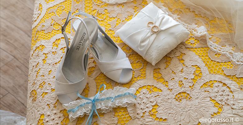 Bride: giarrettiera celeste polvere