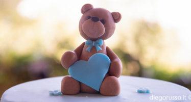 Cake topper: un cuore di orsetto