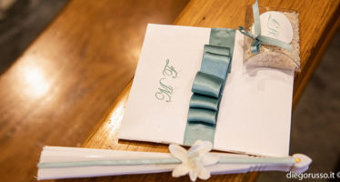 Wedding: tema verde ottanio