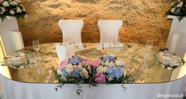Decorazioni per tavolo d'onore