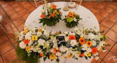 Centrotavola per tavolo d'onore