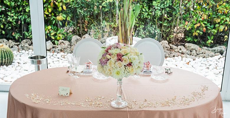 L'eleganza del tavolo d'onore