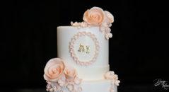 Rose per cake topper