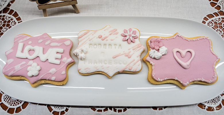 Sweet table: biscotti personalizzati
