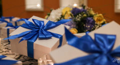 Matrimonio con dettagli blu