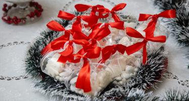 Scatoline natalizie per confetti