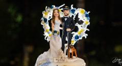 Cake topper nuziale sposa e carabiniere