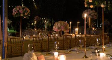 Allestimento matrimonio: candele ai tavoli