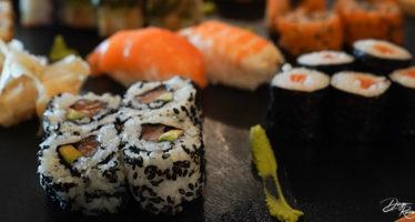 Buffet di sushi al matrimonio