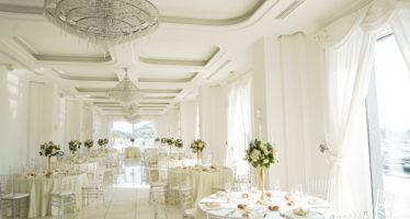 La sala principale di Villa Scalera
