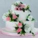 Torta di pasta di zucchero con fiori