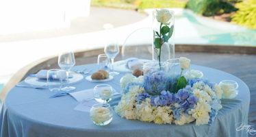 Centrotavola matrimonio: vasetti in vetro