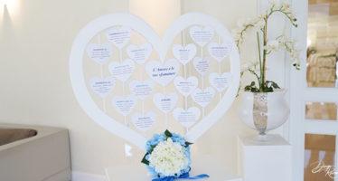 Tableau mariage a forma di cuore