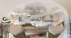 Scarpe sposa con trasparenze e brillantini applicati